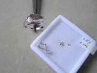 ダイヤとベースのリング